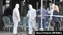 Istraga na mestu eksplozije bombe u Podgorici, iz 2018.
