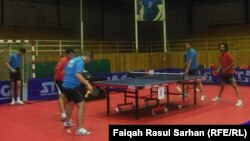 جانب من منافسات بطولة الاندية العربية بكرة الطاولة في عمّان