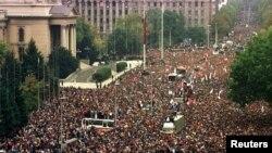 Demonstracije ispred Skupštine 5. oktobra 2000.