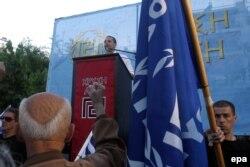 """Предвыборный митинг """"Золотой зари"""", май 2014 года"""