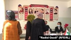 На выборах президента Таджикистана. 11 октября 2020