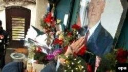 Прощание со Слободаном Милошевичем на его родине