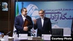 برکناری مدیران رسانههای دانشگاه آزاد اسلامی از سوی علیمحمد نوریان (چپ) صورت گرفته که از سوی ولایتی سرپرست دانشگاه شده است.