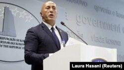 Kryeministri në dorëheqje i Kosovës, Ramush Haradinaj.