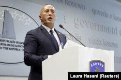 Kryeministri në largim i Kosovës, Ramush Haradinaj.