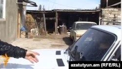 Ադրբեջանական կրակոցներից վնասված մեքենա Բերքաբերում