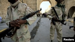 Ливияның үкімет солдаттары.