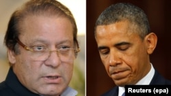 Pakistani Prime Minister Nawaz Sharif (left) is scheduled to meet U.S. President Barack Obama on October 23