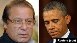 Pakistani Prime Minister Nawaz Sharif (left) is scheduled to meet U.S. President Barack Obama on October 23