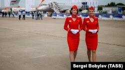 Стюардессы российской авиакомпании «Аэрофлот».
