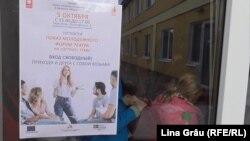 Anunț al spectacolului prezentat la Tiraspol