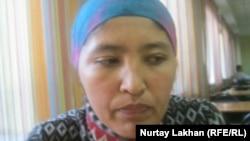 Алатау ауданының тұрғыны Фарида Ыдырысова. Алматы, 12 сәуір 2012 жыл.