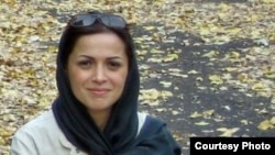 Nazanin Khosravani, a reformist journalist, who is being held in solitary confinement in Tehran's Evin prison.