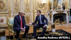 Трамп и Макрон в Елисейском дворце. Париж, 10 ноября 2018 года.