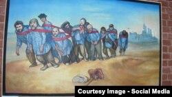 """Способ транспортировки """"Авроры"""", предложенный художниками из группы """"Митьки"""", вряд ли понравится русским патриотам"""