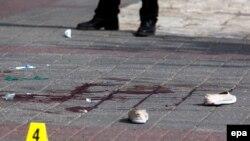 На месте одного из нападений в Васточном Иерусалиме, 13 октября