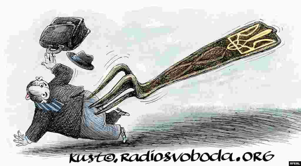 Люстрація. Автор:Oleksy Kustovsky Інтерв'ю з карикатуристом
