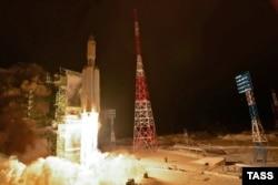 "Запуск ""Ангары-А5"" с космодрома Плесецк, 23 декабря 2014 г."