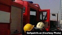 Azerbaijan -- fire in AMAY Trade Center in Baku - 13Sep2014