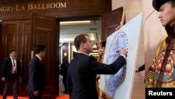 Улан батор саммитига келган Россия Бош вазири Медведев бу ерда Германия канцлери билан алоҳида учрашув ўтказди.