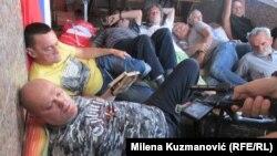 Predsednik Udruženja Ljubomir Bradić izjavio je da se u znak protesta samopovredio