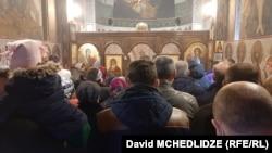 Թբիլիսիում գտնվող եկեղեցում պատարագ է անցկացվում, 22-ը մարտի, 2020թ.