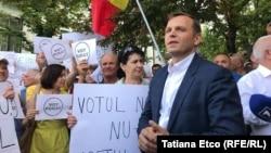 Прихильники Андрея Нестасе протестують проти невизнання виборів мера, Кишинів, 20 червня 2018 року