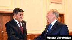 Назарбаев менен Жээнбеков.