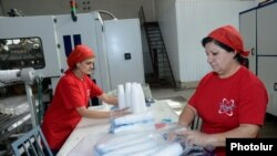 Armenia – Workers at a plastics factory in Yerevan, 30Oct2014.