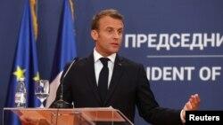 اظهارات امانوئل مکرون در بلگراد، پایتخت، صربستان، ایراد شده است.