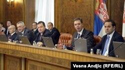Članovi Vlade Srbije na jednoj od sednica