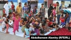 أطفال نازحون في البصرة