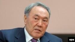 Gazagystanyň prezidenti Nursultan Nazarbaýew.