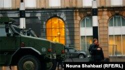 Військова техніка на вулицях Брюсселя