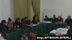 არასამთავრობო ორგანიზაციების და საზოგადოების წარმომადგენლების შეხვედრა გორში