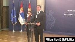 Predsednik i premijerka Srbije, Aleksandar Vučić i Ana Brnabić