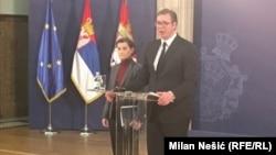 Ana Brnabić i Aleksandar Vučić