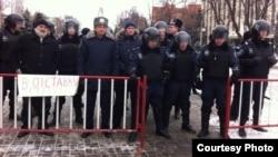 Пикет в Днепропетровске в память об убитых на улице Грушевского в Киеве