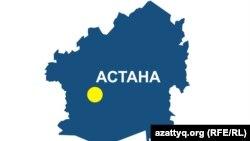 Астана қаласының картасы.