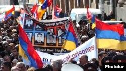 Армения - Шествие оппозиции к офису Совета Европы в Ереване, 16 марта 2010 г.