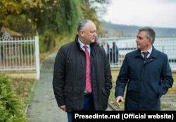 Președintele Igor Dodon și liderul transnistrean Vadim Krasnoselski la Holercani, 29 octombrie 2019