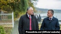 Igor Dodon și Vadim Krasnoselski la Holercani, 20 octombrie 2019