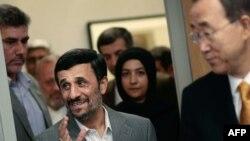 دیدار سال گذشته احمدینژاد و بان گیمون (راست) در مقر سازمان ملل متحد