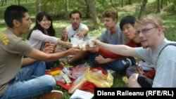 Voluntari din Japonia și alte cîteva state la Mereni