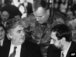 Haški optuženici Radovan Karadžić, Ratko Mladić i Goran Hadžić, Pale, januar 1993.