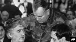Radovan Karadžić i Ratko Mladić u društvu Gorana Hadžića, siječanj 1993.