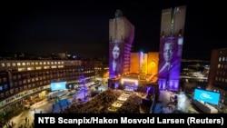 Церемония вручения Нобелевской премии мира в Осло.