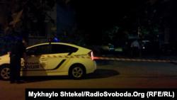 Поліція працює на місці інциденту з Сергієм Стерненком, Одеса, 25 травня 2018 року