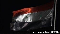 Kazakhstan – flag of Syria. Almaty, 15Sep2012.