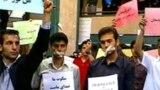Həmədan universitetinin tələblərinin milli haqların təmin edilməsi tələbi ilə etiraz aksiyası. 23 may 2007